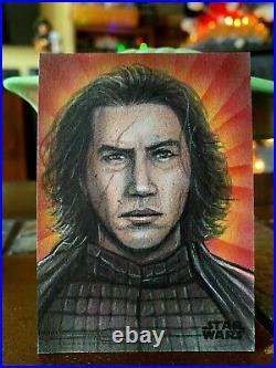 Star Wars Topps Artist Sketch Card 1/1 Kylo Ren by Mohammed Jilani