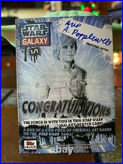 Star Wars Topps Artist Sketch Card 1/1 Lego Stormtrooper by A Popplewell