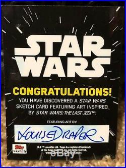 Star Wars Topps Artist Sketch Card 1/1 Louise Draper The Last Jedi Kylo Ren