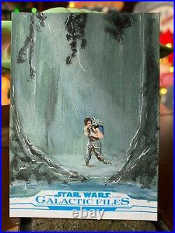 Star Wars Topps Artist Sketch Card 1/1 Luke Skywalker by Corey Galal