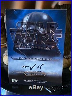 Star Wars Topps Artist Sketch Card 1/1 Masterworks Padme Amidala Queen