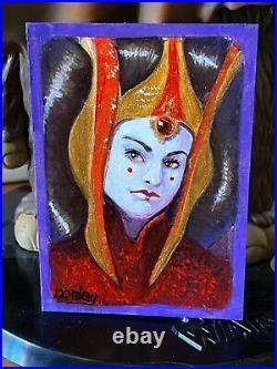 Star Wars Topps Artist Sketch Card 1/1 Masterworks Padme Amidala Ron Conley