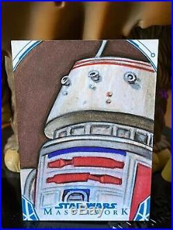 Star Wars Topps Artist Sketch Card 1/1 Masterworks R5-D4 Adam Everett Beck