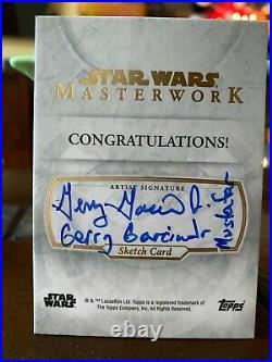 Star Wars Topps Artist Sketch Card 1/1 Mustafar by Gerry Garcia