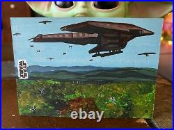 Star Wars Topps Artist Sketch Card 1/1 Naboo Ship by Jay Manchand