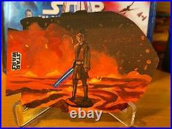 Star Wars Topps Artist Sketch Card 1/1 Obi-Wan Anakin Battle Jay Manchand