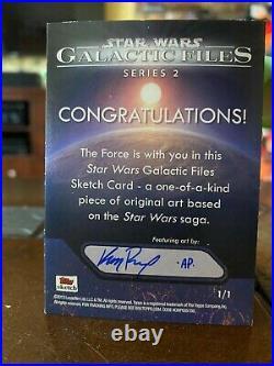 Star Wars Topps Artist Sketch Card 1/1 Obi-Wan Kenobi by Kris Penix