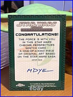 Star Wars Topps Artist Sketch Card 1/1 Obi-Wan Kenobi by Marcia Dye