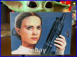 Star Wars Topps Artist Sketch Card 1/1 Padme Amidala Carlos Cabaleiro