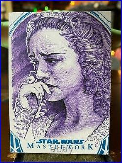 Star Wars Topps Artist Sketch Card 1/1 Padme Amidala Eric Muller