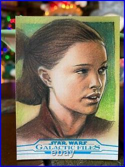Star Wars Topps Artist Sketch Card 1/1 Padme Amidala Huy Truong