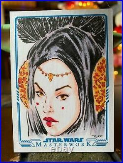 Star Wars Topps Artist Sketch Card 1/1 Padme Amidala Patricia Carrasco
