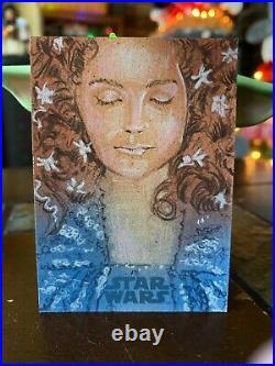 Star Wars Topps Artist Sketch Card 1/1 Padme Amidala by Matthew Hirons