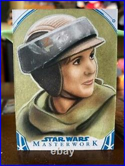 Star Wars Topps Artist Sketch Card 1/1 Princess Leia by Dan Tearle