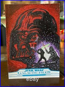 Star Wars Topps Artist Sketch Card 1/1 ROTJ Movie Poster by Kelly Greider