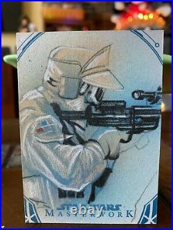Star Wars Topps Artist Sketch Card 1/1 Rebel Soldier by Matthew Hirons