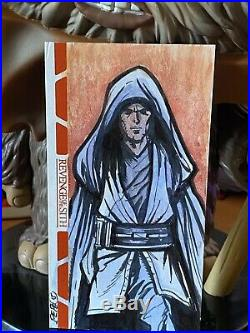 Star Wars Topps Artist Sketch Card 1/1 Revenge of Sith Darrin Pepe Widevision
