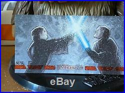 Star Wars Topps Artist Sketch Card 1/1 Revenge of Sith Frank Kadar Widevision