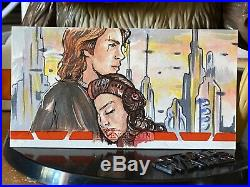 Star Wars Topps Artist Sketch Card 1/1 Revenge of Sith Kimberly D Widevision