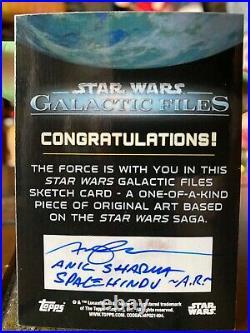 Star Wars Topps Artist Sketch Card 1/1 Rey by Anil Sharma