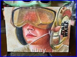 Star Wars Topps Artist Sketch Card 1/1 Rey by Louise Draper