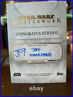 Star Wars Topps Artist Sketch Card 1/1 Rogue One Ship by Jay Manchand