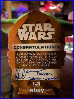 Star Wars Topps Artist Sketch Card 1/1 Sandcrawler by Darren Coburn-James