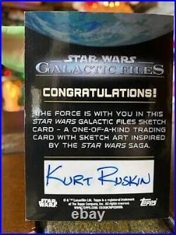 Star Wars Topps Artist Sketch Card 1/1 Stormtrooper by Kurt Ruskin