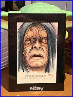 Star Wars Topps Artist Sketch Card 1/1 The Emperor by Erik Maell