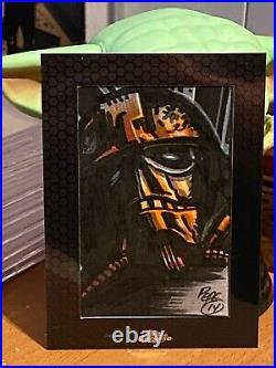 Star Wars Topps Artist Sketch Card 1/1 Tie Pilot by Darrin Pepe