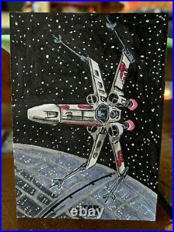 Star Wars Topps Artist Sketch Card 1/1 X-Wing by Kurt Ruskin