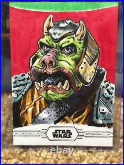 Star Wars Topps Chrome Legacy Artist Sketch Card 1/1 Guard by Matt Stewart