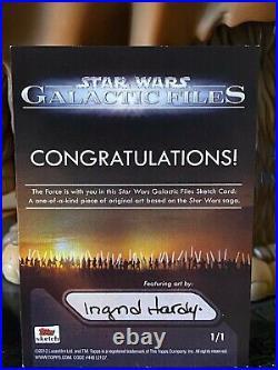 Star Wars Topps Licensed Artist Sketch Card 1/1 Ingrid Hardy Qui-Gon