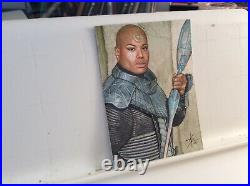 Stargate Sg-1 Tealc Original Hand Made Drawing Sketch Card Aceo By Artist