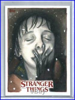Stranger Things 2018 Topps Artist Sketch Card #1/1 by Dan Tearle