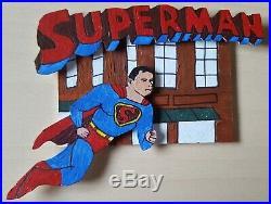 Superman 3D Quad Puzzle AP Sketch Card by Logan Garrison Viceroy Artists Choice