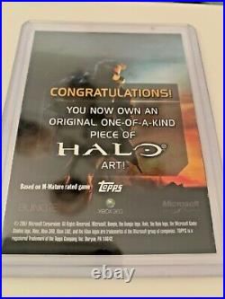 TOPPS XBOX HALO 2007 SKETCH CARD 1-OF-A-KIND ART By Artist Jake Myler