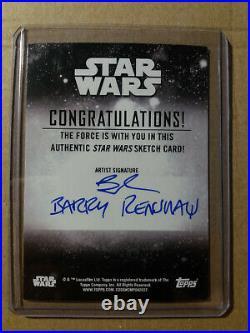 The Child/baby Yoda B Topps Star Wars Holocron 2020 Artist Return Sketchcard