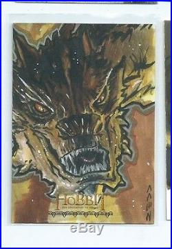 The Hobbit The Desolation of Smaug sketch card Jack Redd VERY LIMITED ARTIST