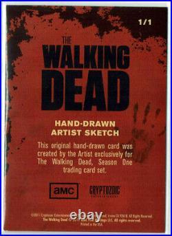 The Walking Dead Season 1 Sketch Card 1/1 Artist Dan Gorman (1288 Packs)
