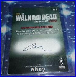 The Walking Dead Season 4 Part 2 Trading Cards Sketch Card by Artist C4nbaran