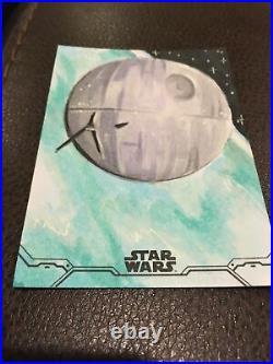 Topps 2020 Star Wars Holocron Death Star Sketch Card Art Artists Madison Emerick