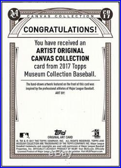Topps Museum Collection -mike Trout Canvas Original 1/1 Artist Proof- Cover