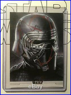 Topps Rise of Skywalker 2 KYLO REN ARTIST PROOF sketch card JASON DAVIES