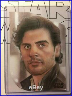 Topps Rise of Skywalker 2 POE DAMERON ARTIST PROOF sketch card JASON DAVIES