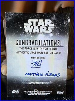 Topps Star Wars Artist Sketch Card 1/1 Anakin Skywalker Matthew Hirons