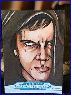 Topps Star Wars Artist Sketch Card 1/1 Anakin Skywalker Mike Mastermaker