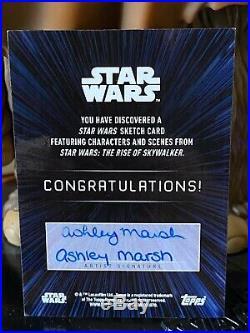 Topps Star Wars Artist Sketch Card 1/1 C-3PO Ashley Marsh
