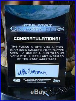 Topps Star Wars Artist Sketch Card 1/1 Disabled Destroyer by Wade Silverman