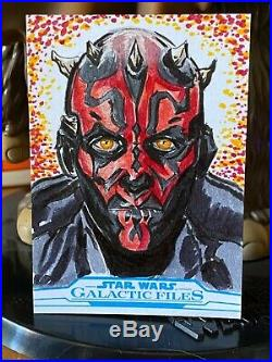 Topps Star Wars Artist Sketch Card 1/1 Han Solo by Darth Maul Anthony Skubis AP